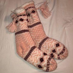 Light Pink Slipper Socks